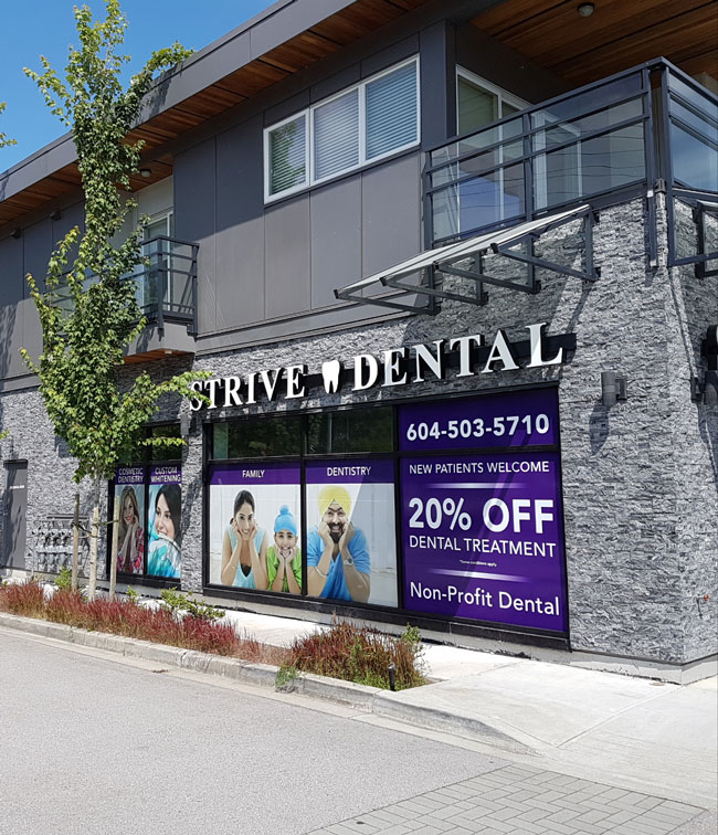 Strive dental practice storefront